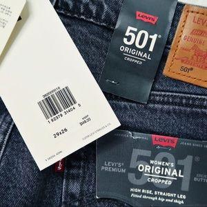 Levi's Jeans - NEW Levi's  501 Crystal Crop Embellished Jeans